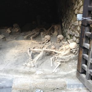 The remains of those who died due to the fallout from the volcanic eruption in Herculaneum have been left exactly as they were discovered