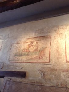 Drawings in ancient brothels in Pompeii leave little to the imagination