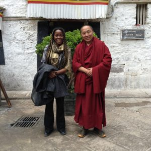 The interesting thing about going to Tibet where there aren't a lot of dark skinned people is that interesting people were just as keen to take a photo with me as I was with them