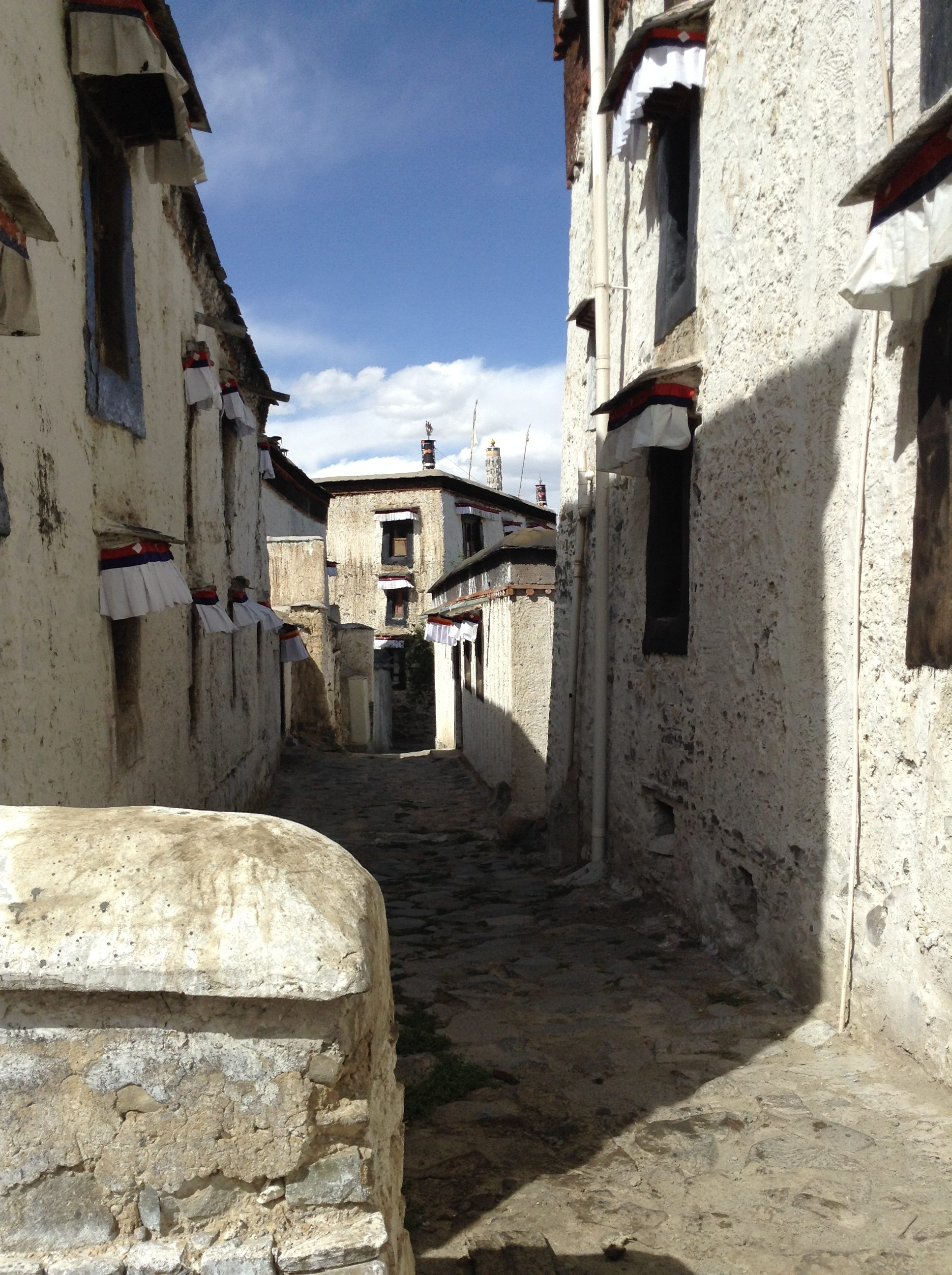 Traditional, ancient buildings in Tibet