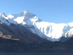Mount Everest, as seen from the Tibetan side