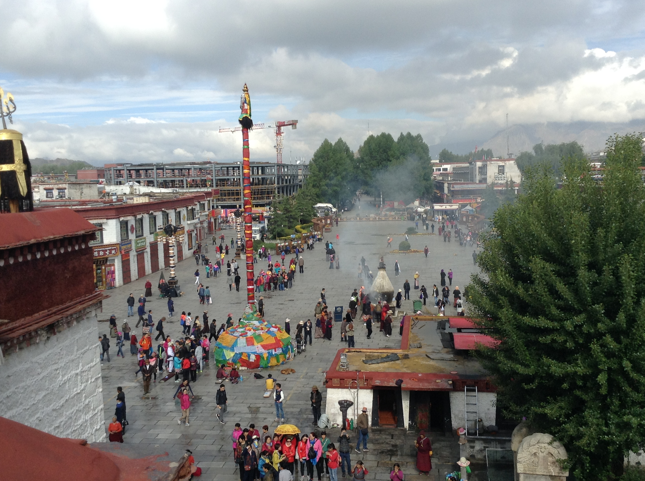 Lhasa is more than 3,400 feet in the air