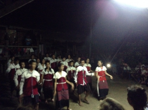long neck karen tribal dance