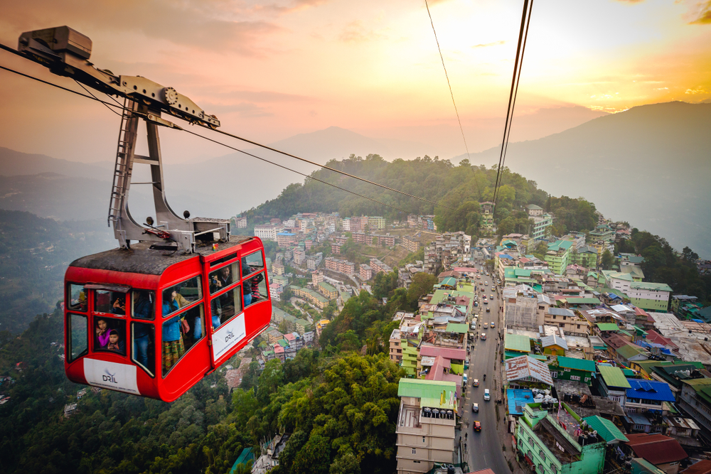 cable car, backpacking north east india