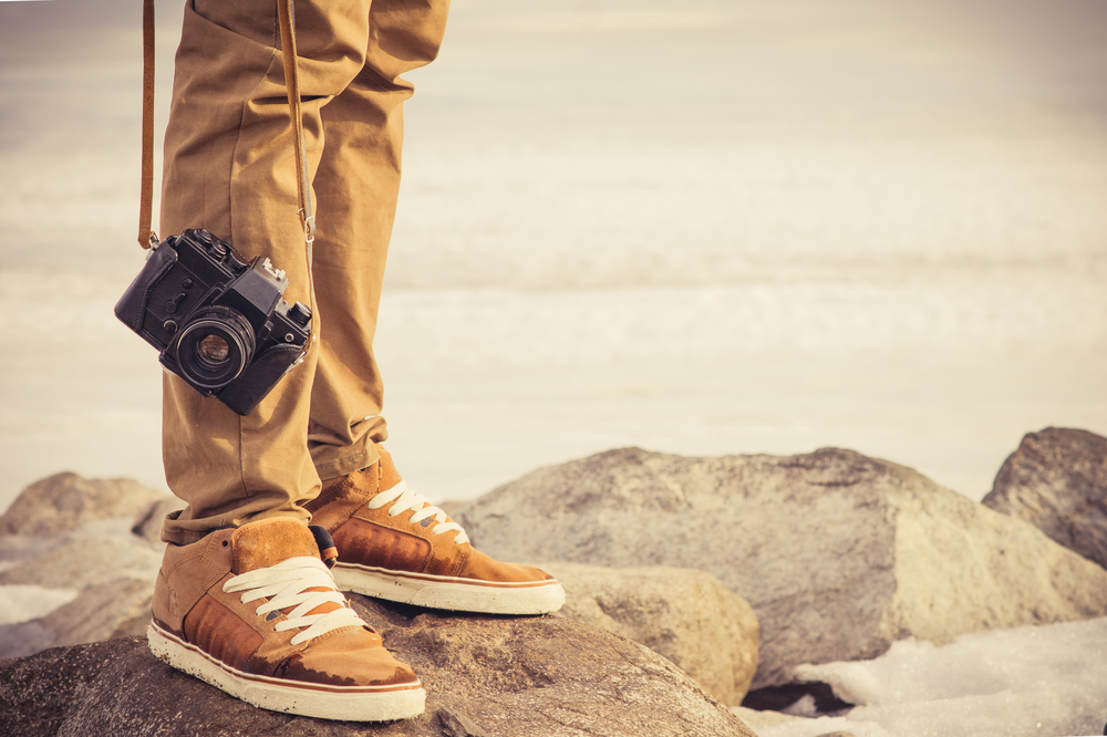 camera and shoes