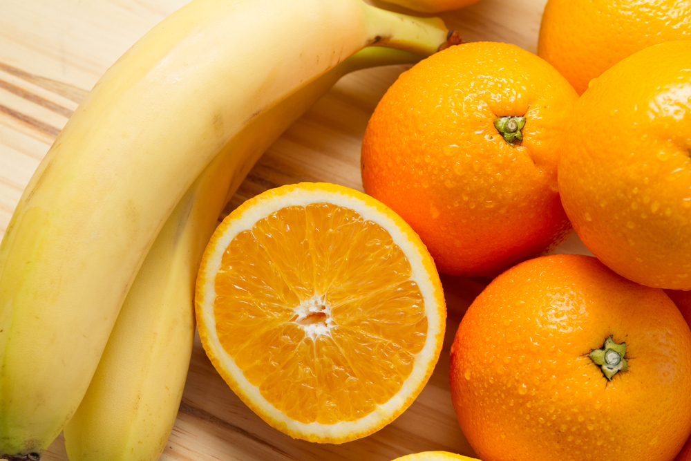 banana and orange