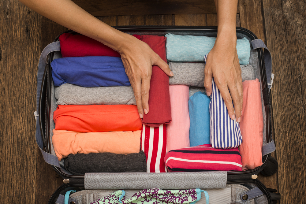 packing suitcase, backpacking north east india