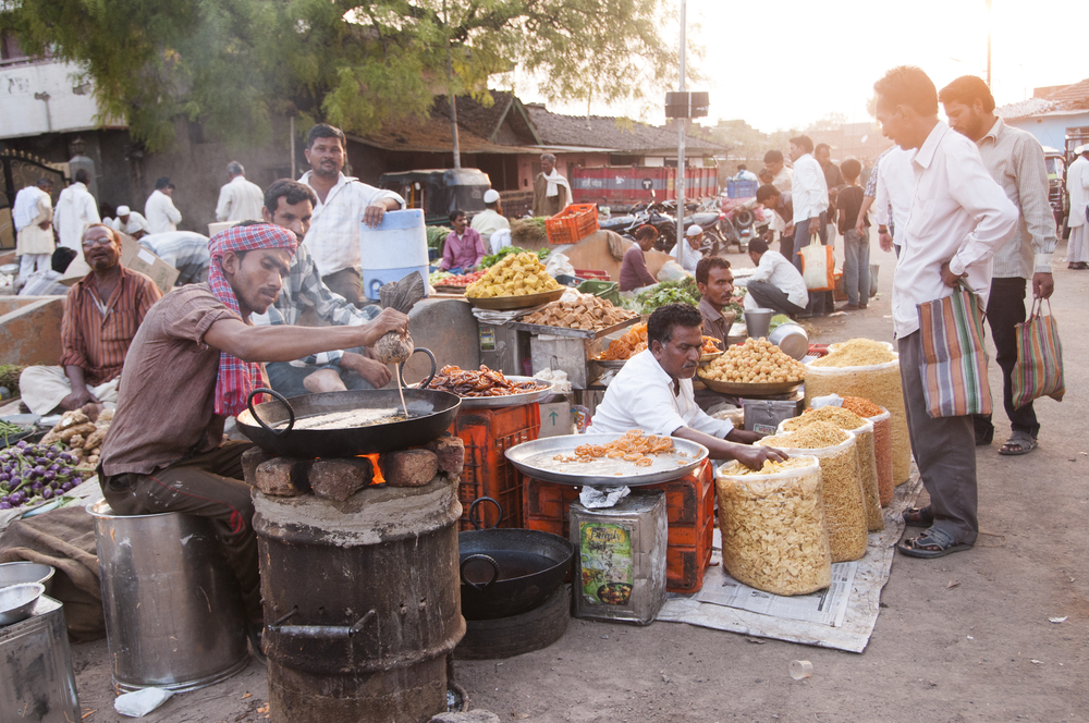 indian street food stall, backpacking north east india