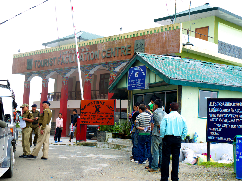 indian travel permit queue, backpacking north east india
