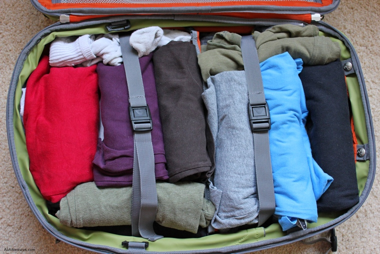 pack suitcase, pack clothes tightly, how to plan a solo backpacking trip, how to plan a first trip abroad, first time backpacking tips,