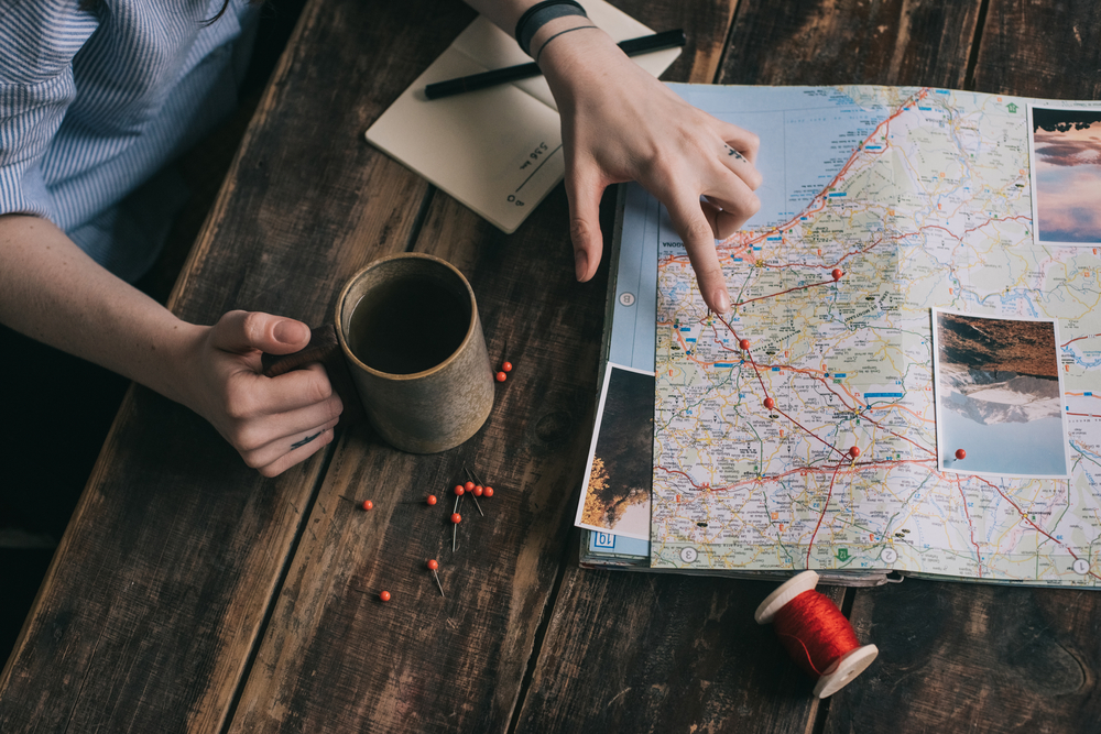 map, travel planning