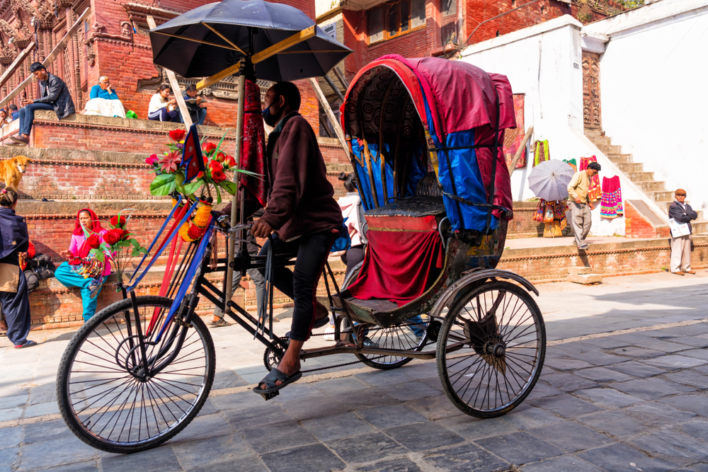 first time backpacking advice nepal, nepal rickshaw, tuktuk