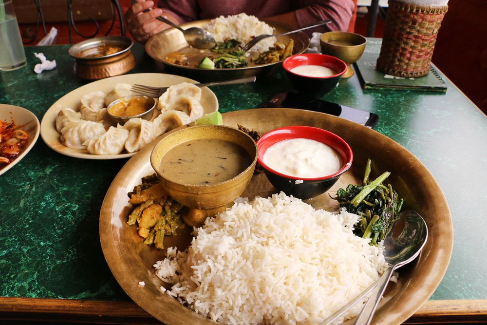 nepalese food, nepal, best places to travel alone in asia